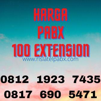 harga pabx panasonic 100 extension
